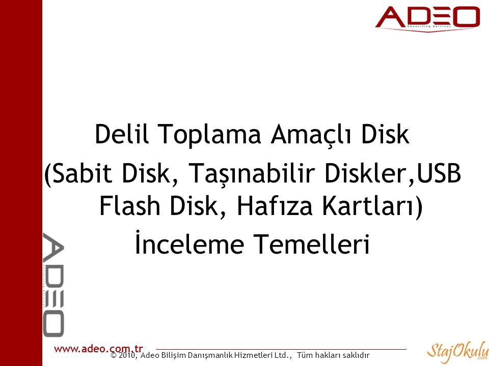 Delil Toplama Amaçlı Disk (Sabit Disk, Taşınabilir Diskler,USB Flash Disk, Hafıza Kartları) İnceleme Temelleri