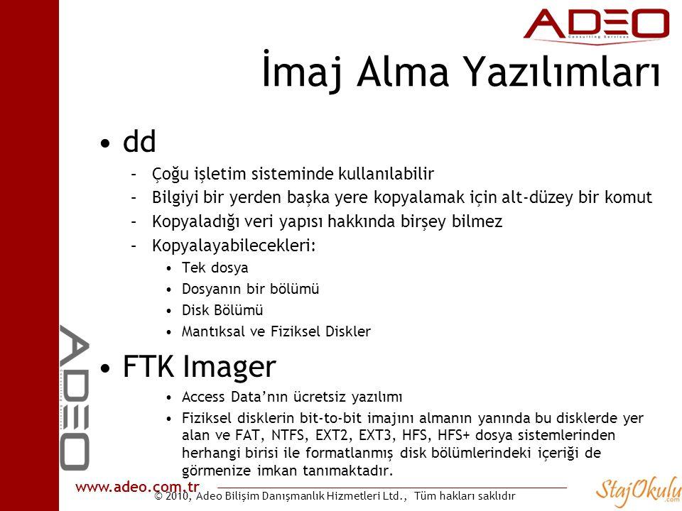 İmaj Alma Yazılımları dd FTK Imager