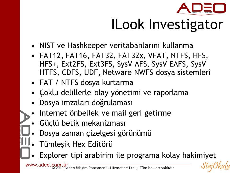 ILook Investigator NIST ve Hashkeeper veritabanlarını kullanma