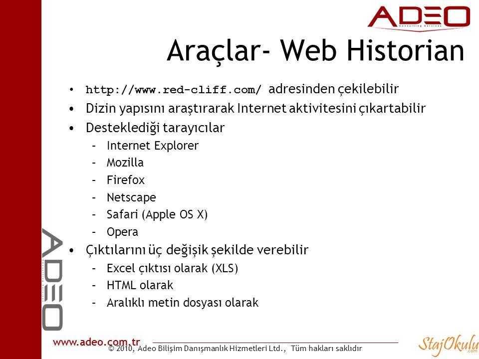 Araçlar- Web Historian