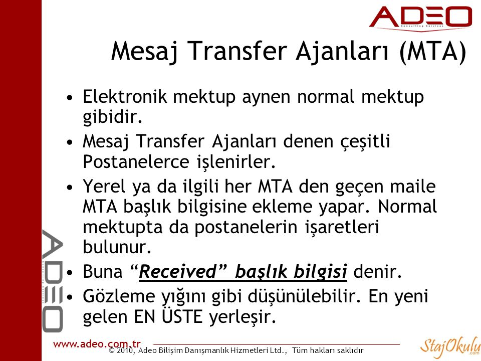 Mesaj Transfer Ajanları (MTA)