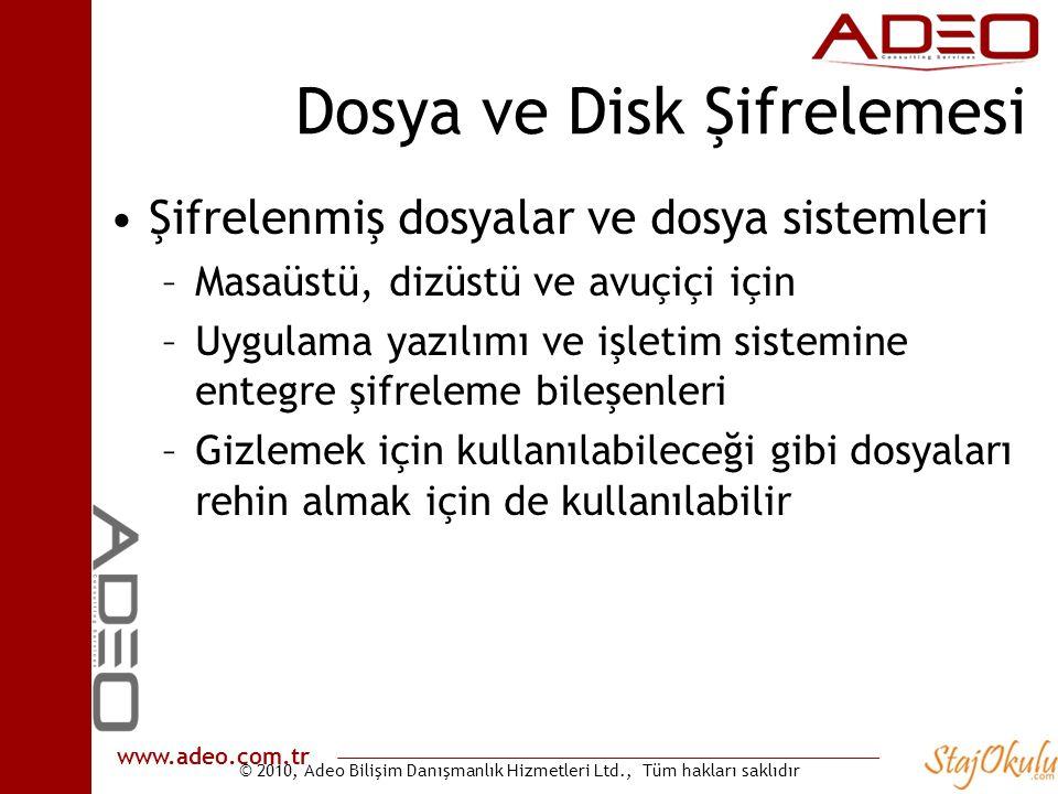 Dosya ve Disk Şifrelemesi