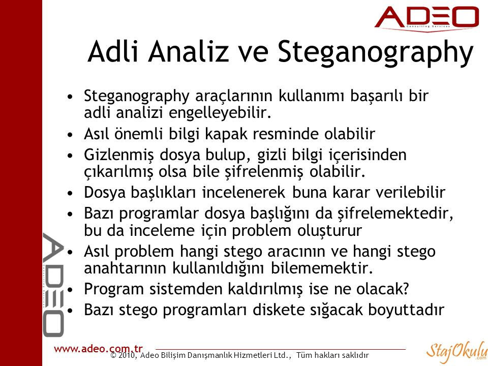 Adli Analiz ve Steganography