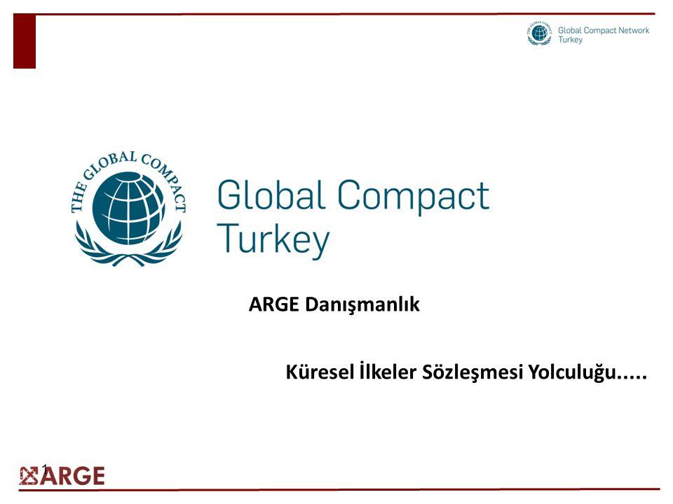 ARGE Danışmanlık Küresel İlkeler Sözleşmesi Yolculuğu.....