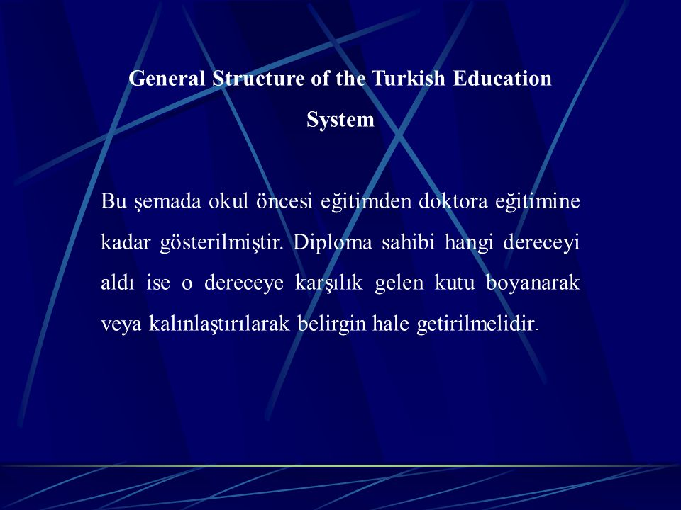 General Structure of the Turkish Education System