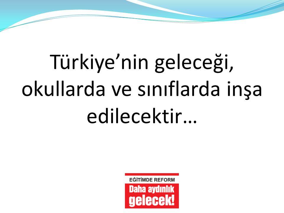 Türkiye'nin geleceği, okullarda ve sınıflarda inşa edilecektir…
