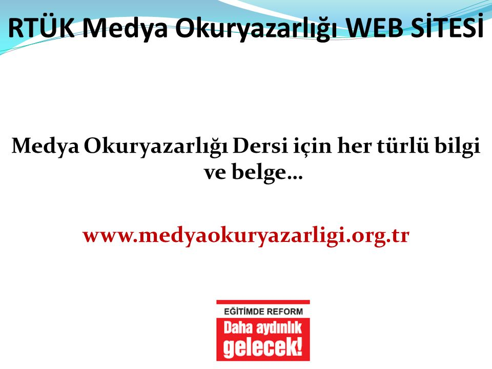 RTÜK Medya Okuryazarlığı WEB SİTESİ