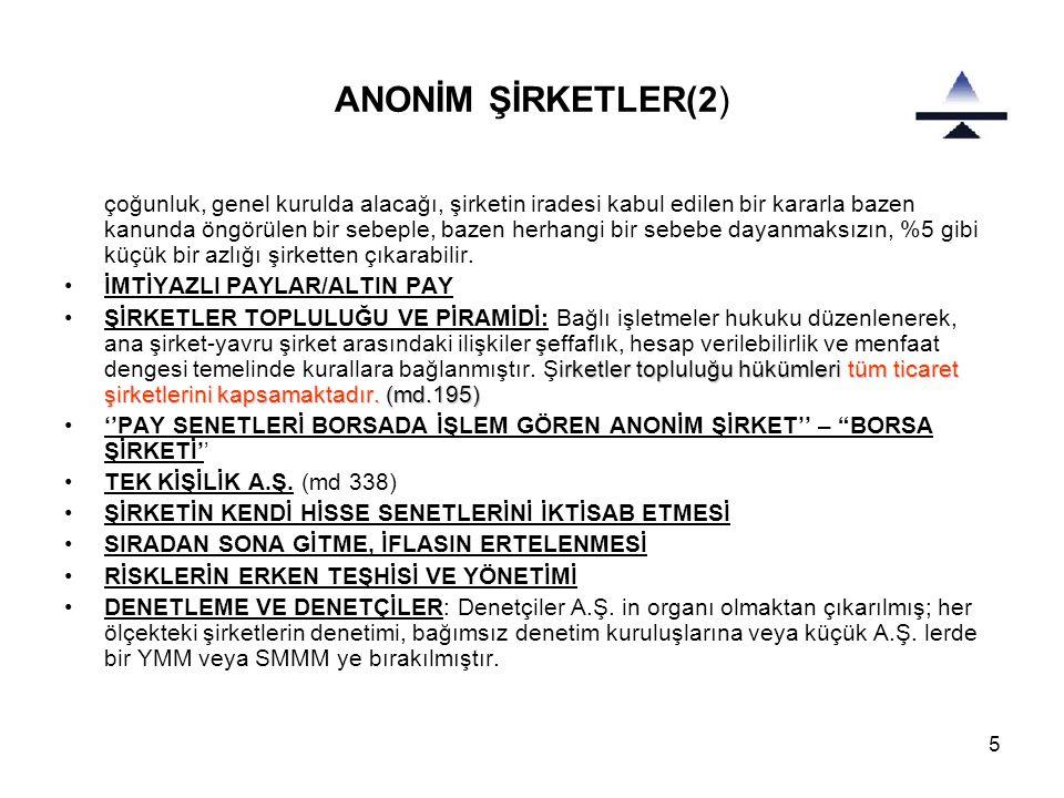 ANONİM ŞİRKETLER(2)