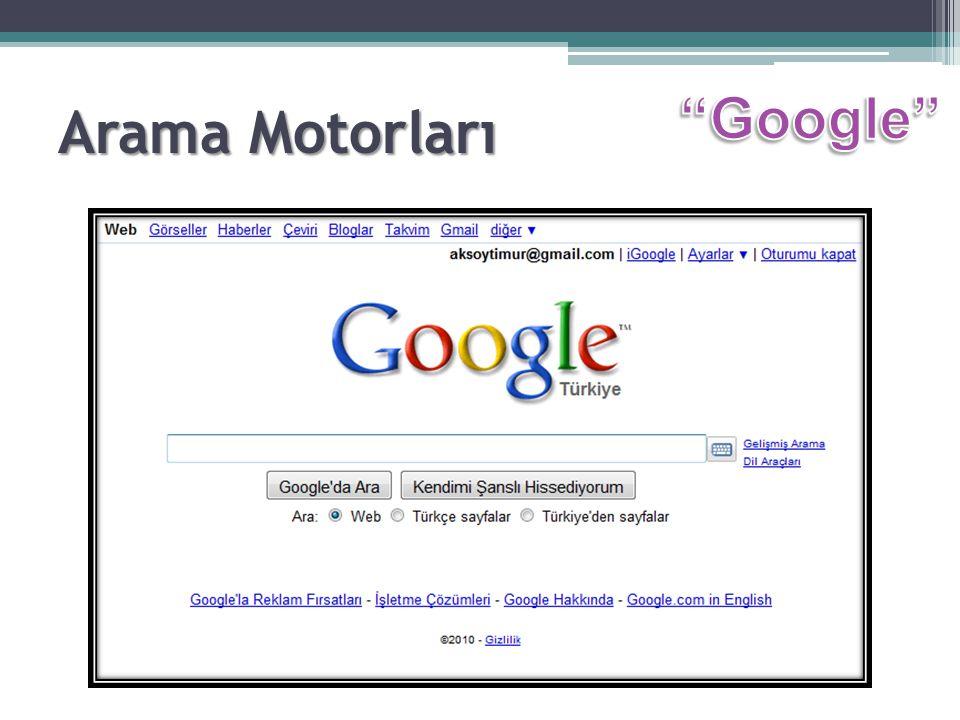 Arama Motorları Google