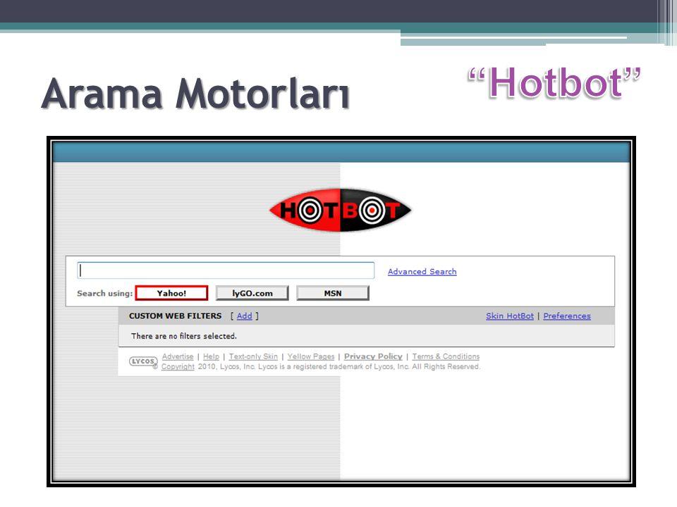 Arama Motorları Hotbot