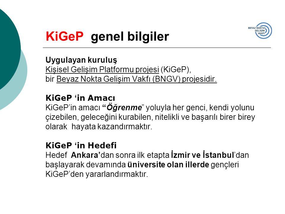 KiGeP genel bilgiler Uygulayan kuruluş