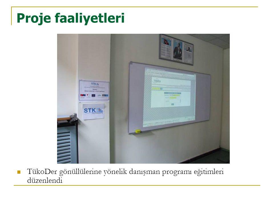 Proje faaliyetleri TükoDer gönüllülerine yönelik danışman programı eğitimleri düzenlendi