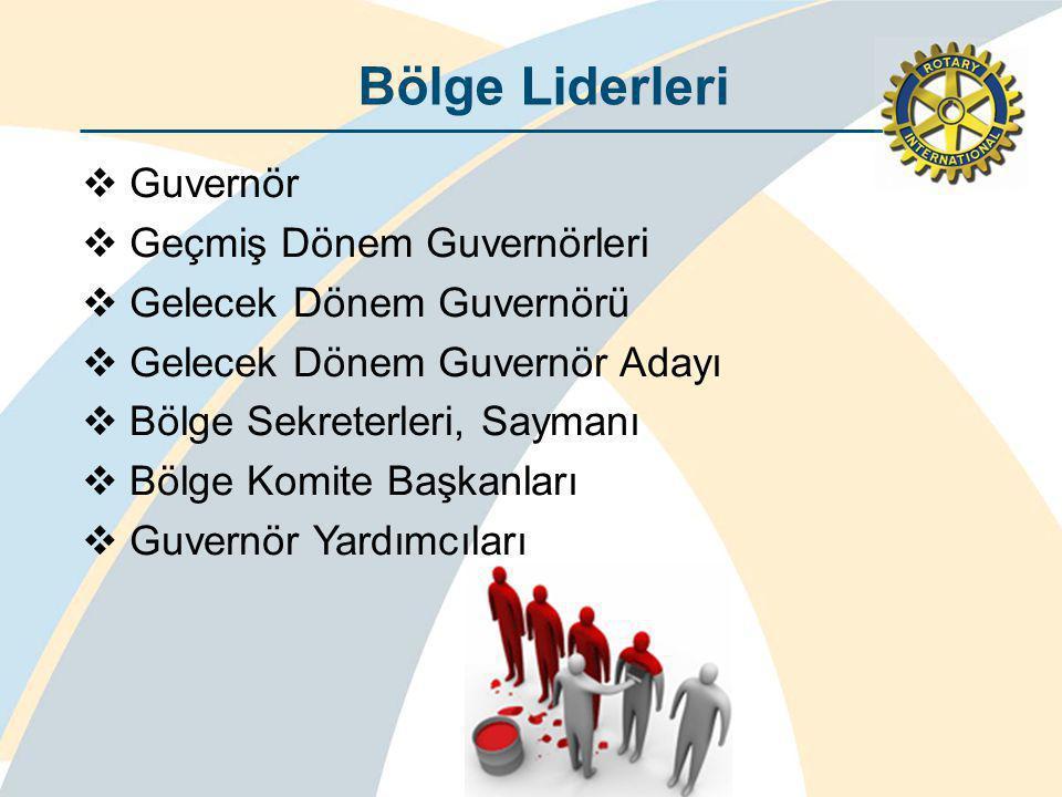 Bölge Liderleri Guvernör Geçmiş Dönem Guvernörleri