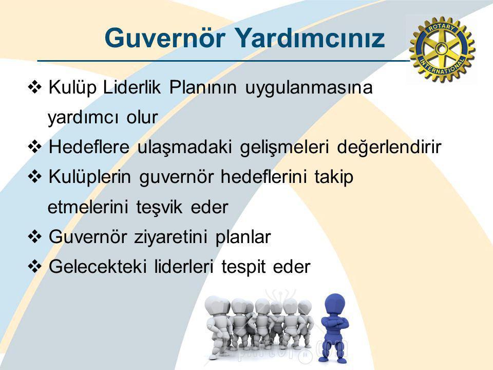 Guvernör Yardımcınız Kulüp Liderlik Planının uygulanmasına