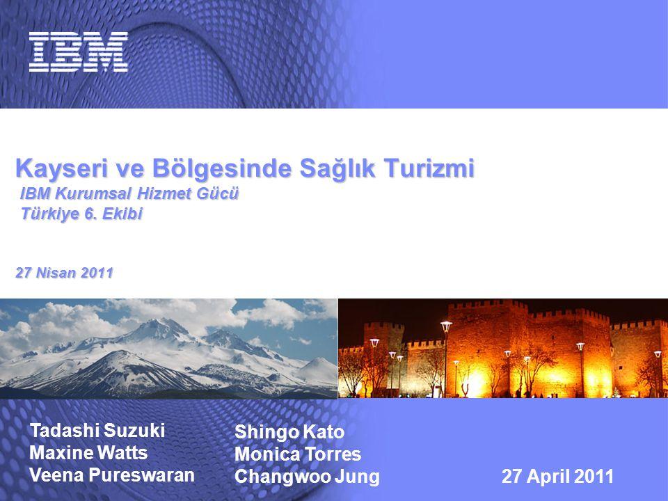 Kayseri ve Bölgesinde Sağlık Turizmi IBM Kurumsal Hizmet Gücü Türkiye 6. Ekibi 27 Nisan 2011