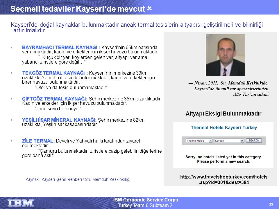 Seçmeli tedaviler Kayseri'de mevcut 
