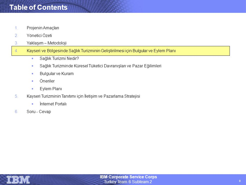 Table of Contents Projenin Amaçları Yönetici Özeti