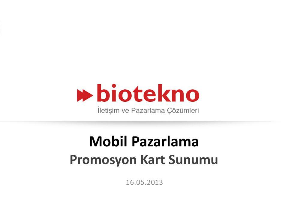 Mobil Pazarlama Promosyon Kart Sunumu