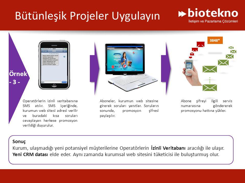 Bütünleşik Projeler Uygulayın