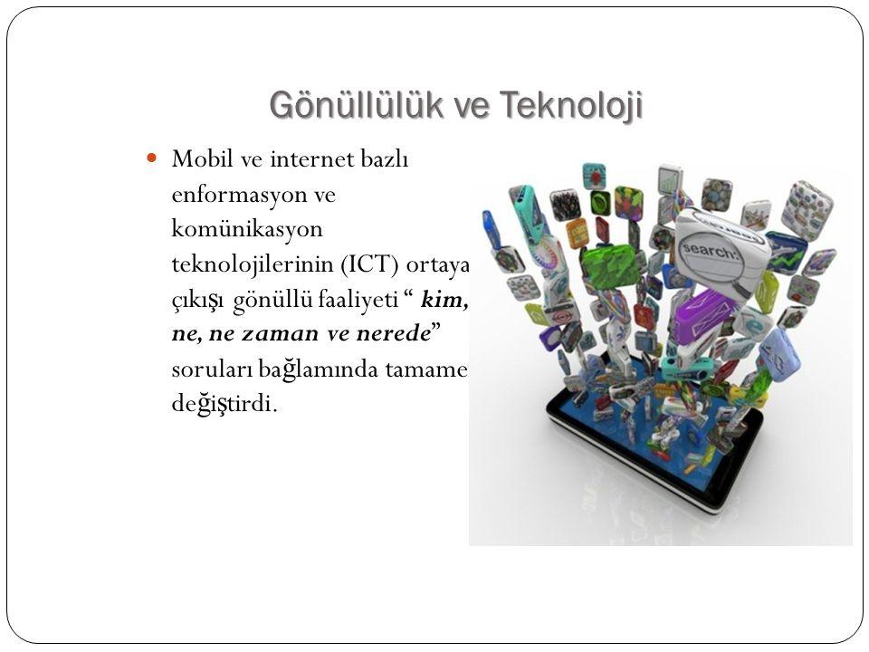 Gönüllülük ve Teknoloji
