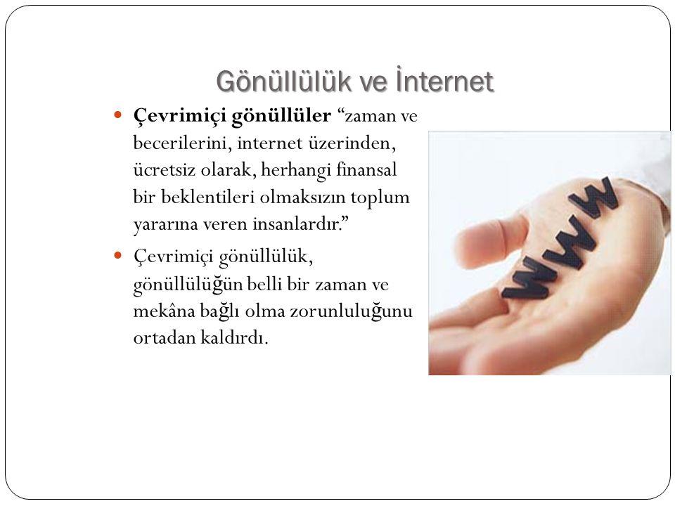 Gönüllülük ve İnternet