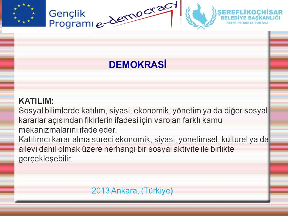 DEMOKRASİ KATILIM: