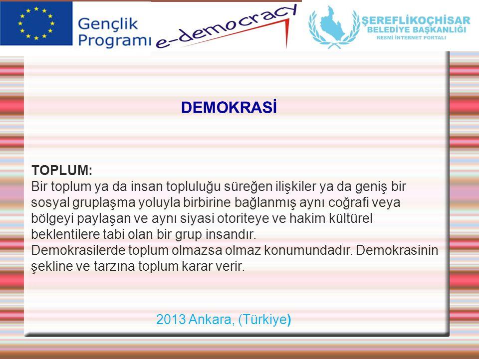 DEMOKRASİ TOPLUM: