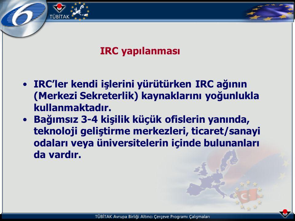 IRC yapılanması IRC'ler kendi işlerini yürütürken IRC ağının (Merkezi Sekreterlik) kaynaklarını yoğunlukla kullanmaktadır.