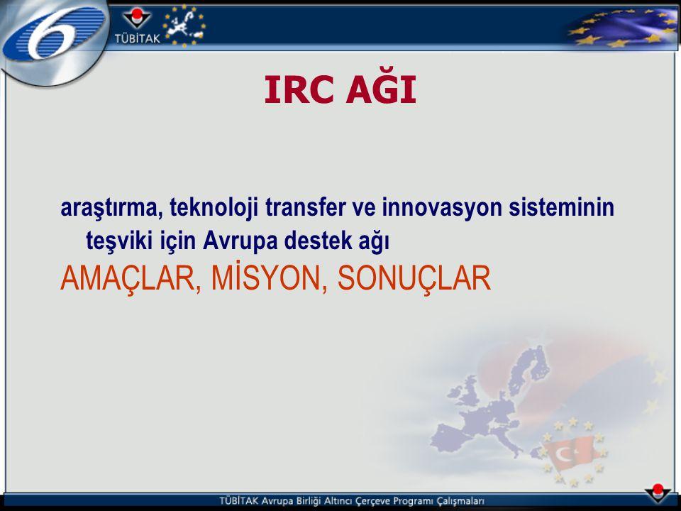 IRC AĞI AMAÇLAR, MİSYON, SONUÇLAR