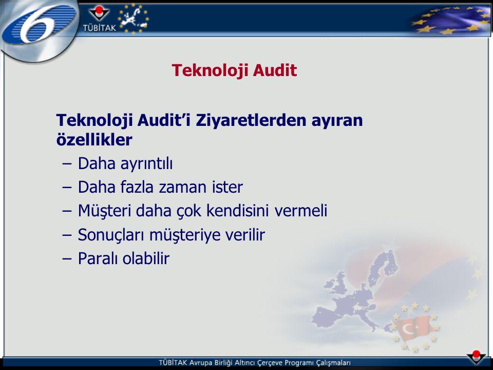 Teknoloji Audit Teknoloji Audit'i Ziyaretlerden ayıran özellikler. Daha ayrıntılı. Daha fazla zaman ister.