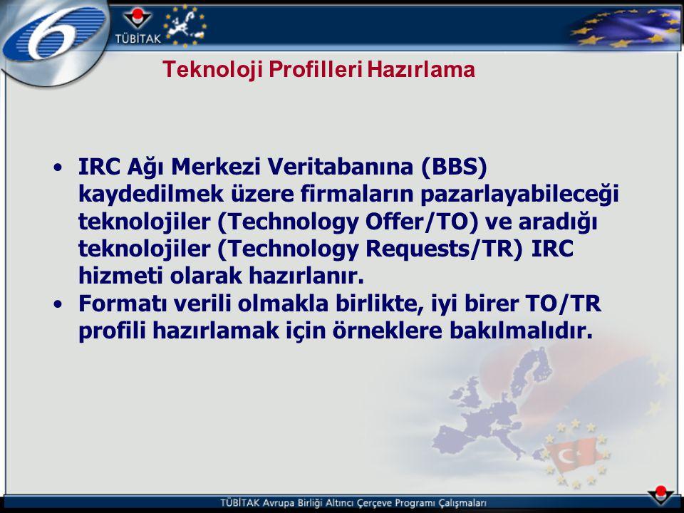 Teknoloji Profilleri Hazırlama