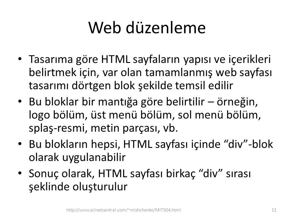 Web düzenleme