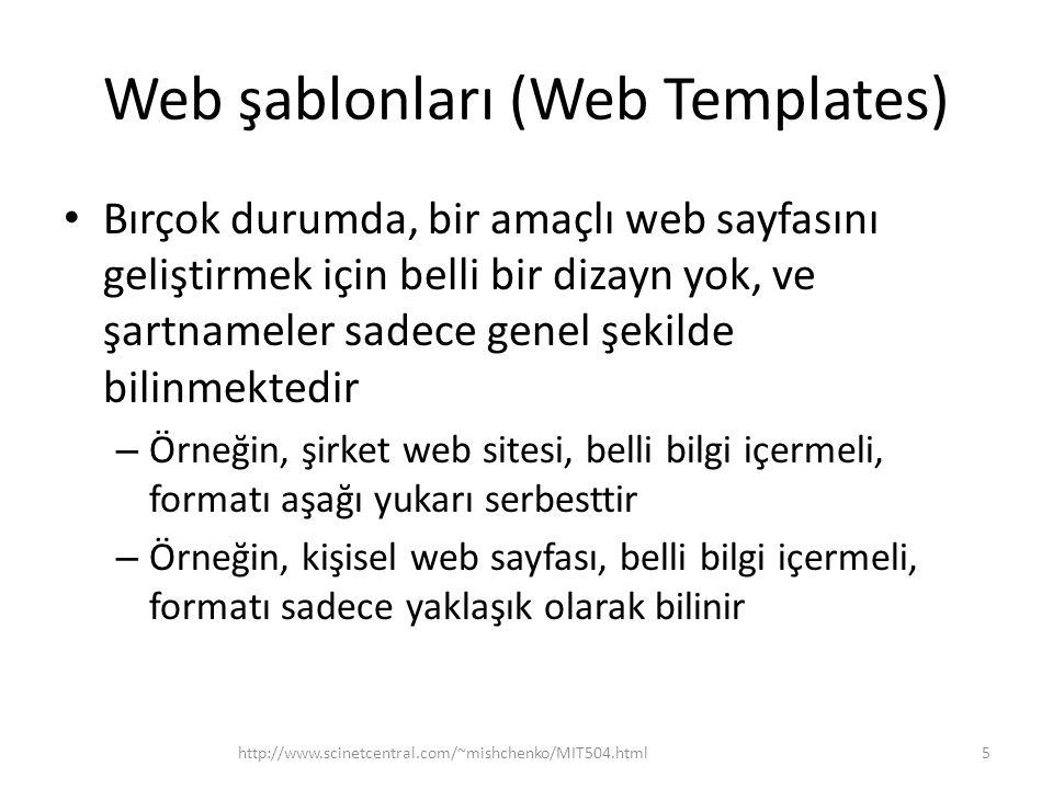 Web şablonları (Web Templates)