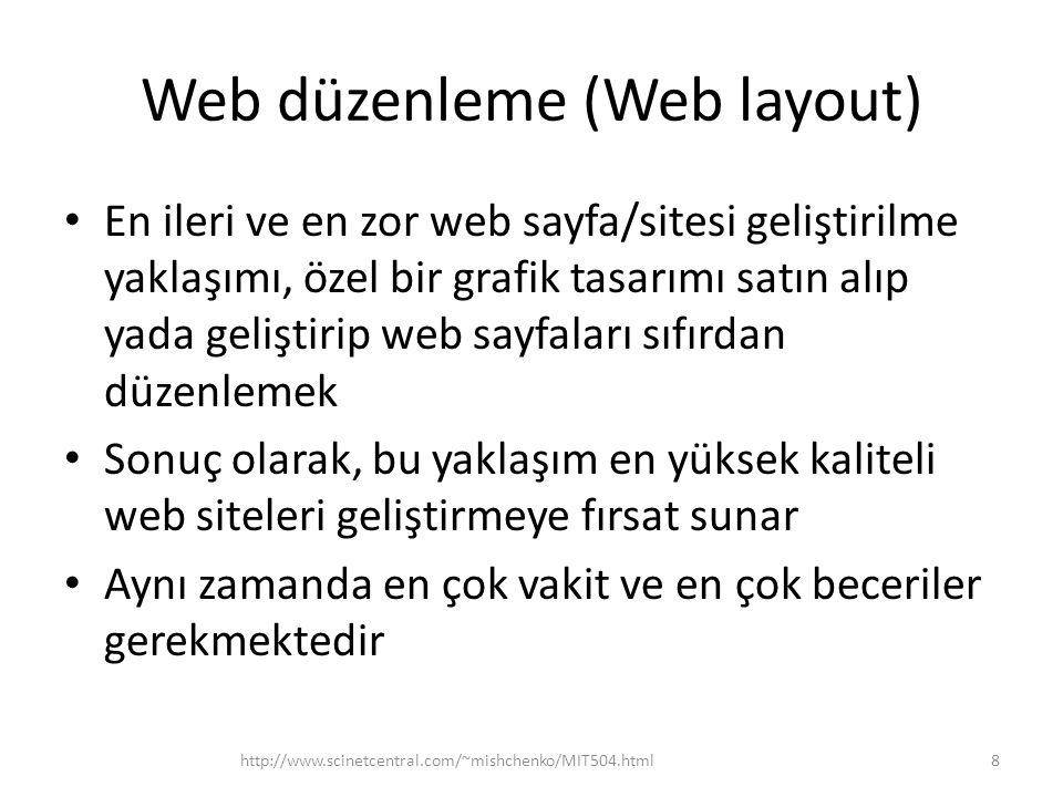 Web düzenleme (Web layout)