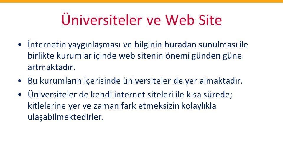 Üniversiteler ve Web Site
