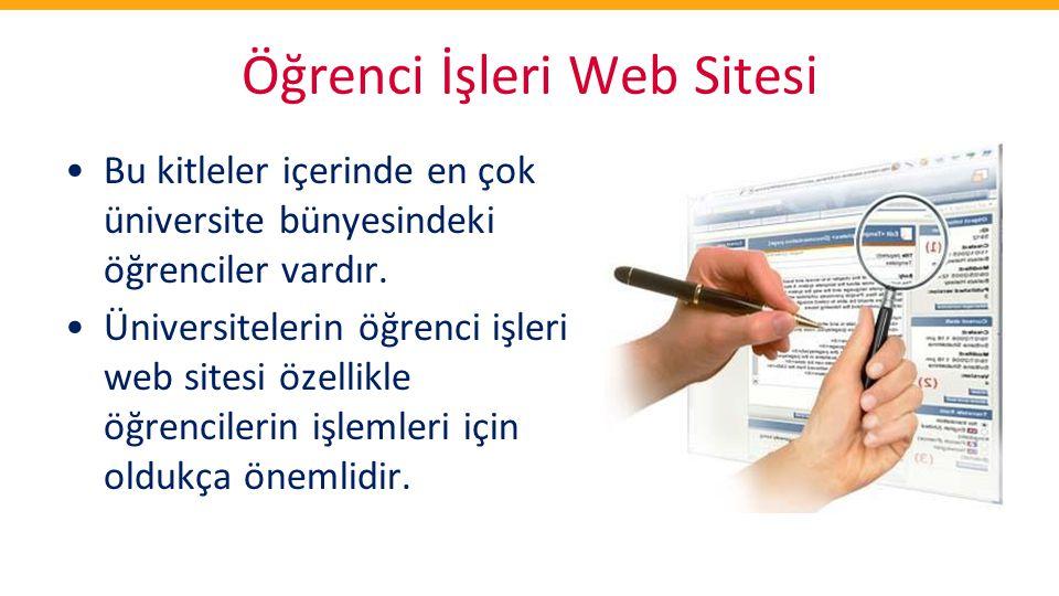 Öğrenci İşleri Web Sitesi
