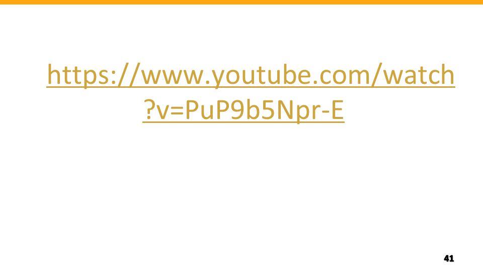 https://www.youtube.com/watch v=PuP9b5Npr-E