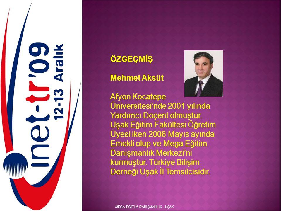 ÖZGEÇMİŞ Mehmet Aksüt.
