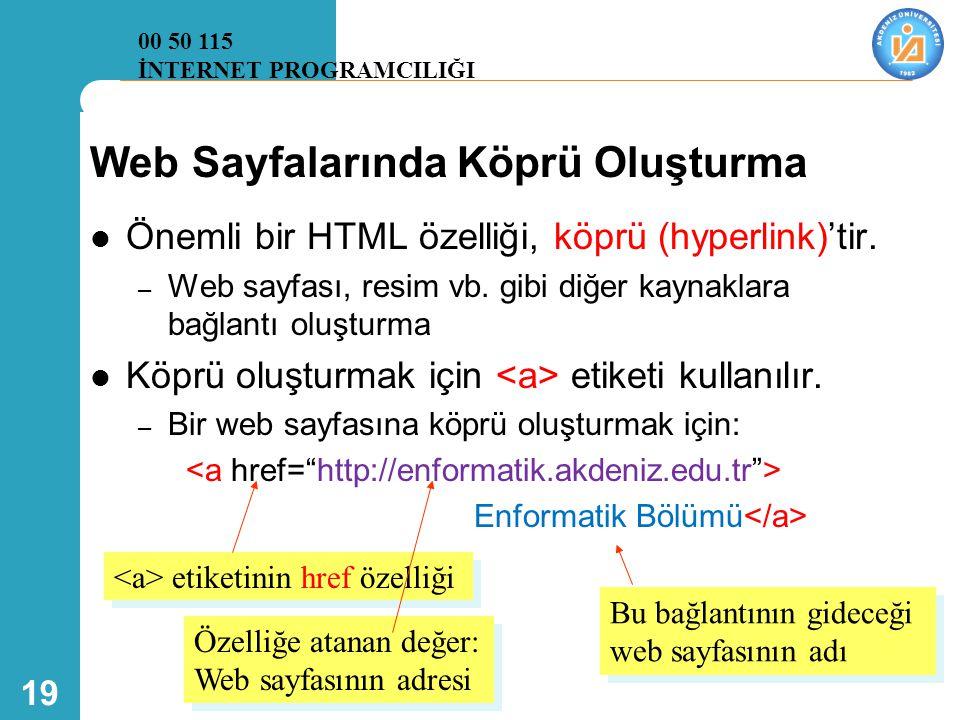 Web Sayfalarında Köprü Oluşturma