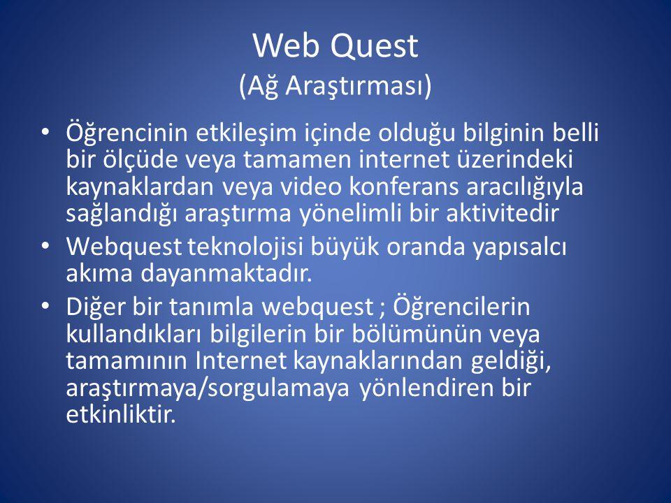 Web Quest (Ağ Araştırması)