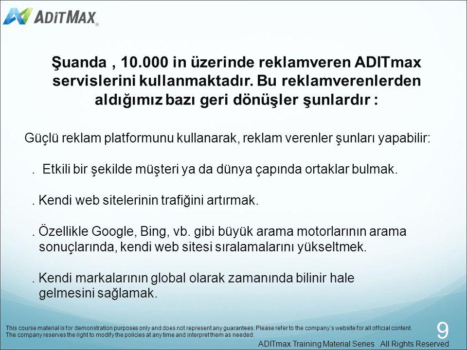 Şuanda , 10.000 in üzerinde reklamveren ADITmax servislerini kullanmaktadır. Bu reklamverenlerden aldığımız bazı geri dönüşler şunlardır :
