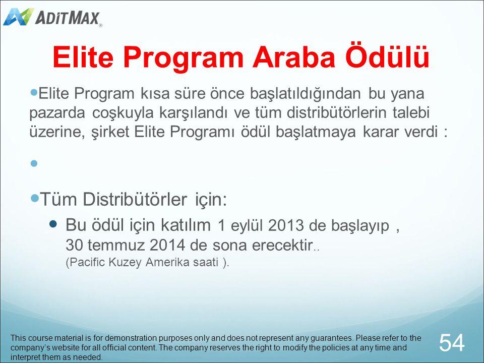 Elite Program Araba Ödülü