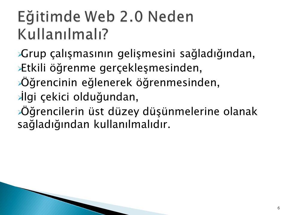 Eğitimde Web 2.0 Neden Kullanılmalı