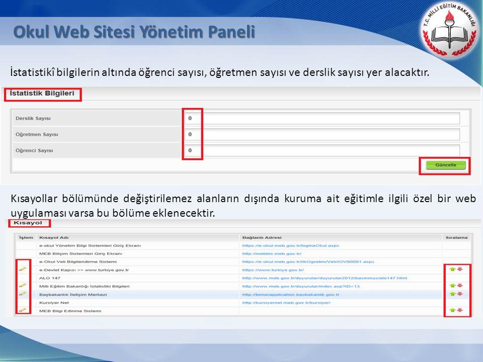 Okul Web Sitesi Yönetim Paneli
