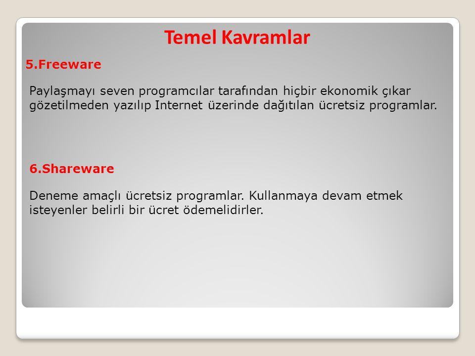 Temel Kavramlar 5.Freeware