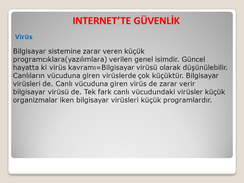 INTERNET'TE GÜVENLİK Virüs.