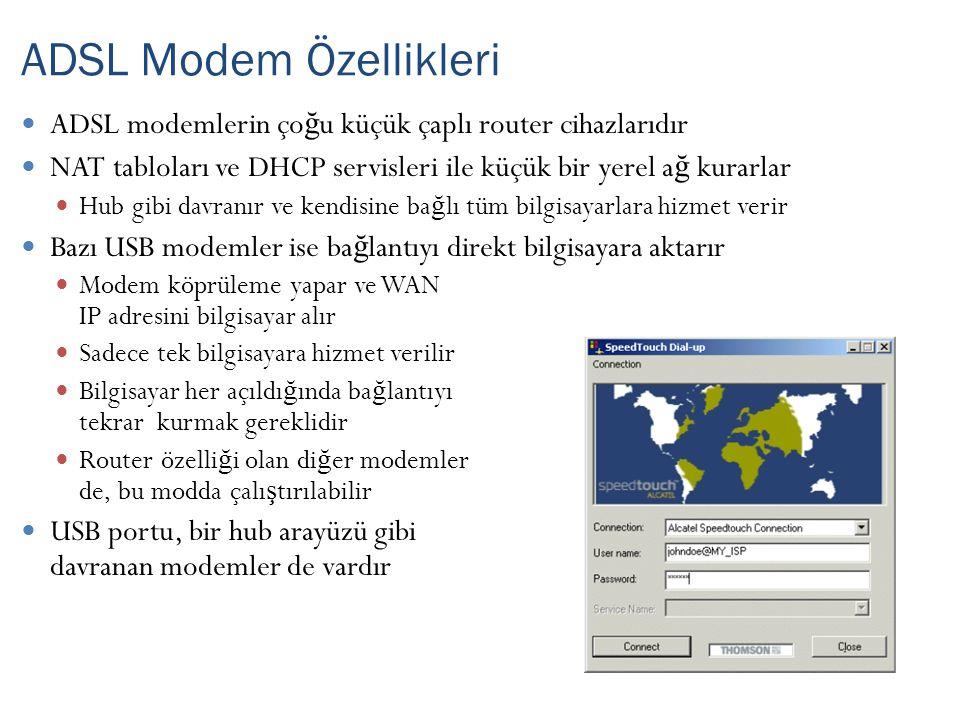 ADSL Modem Özellikleri