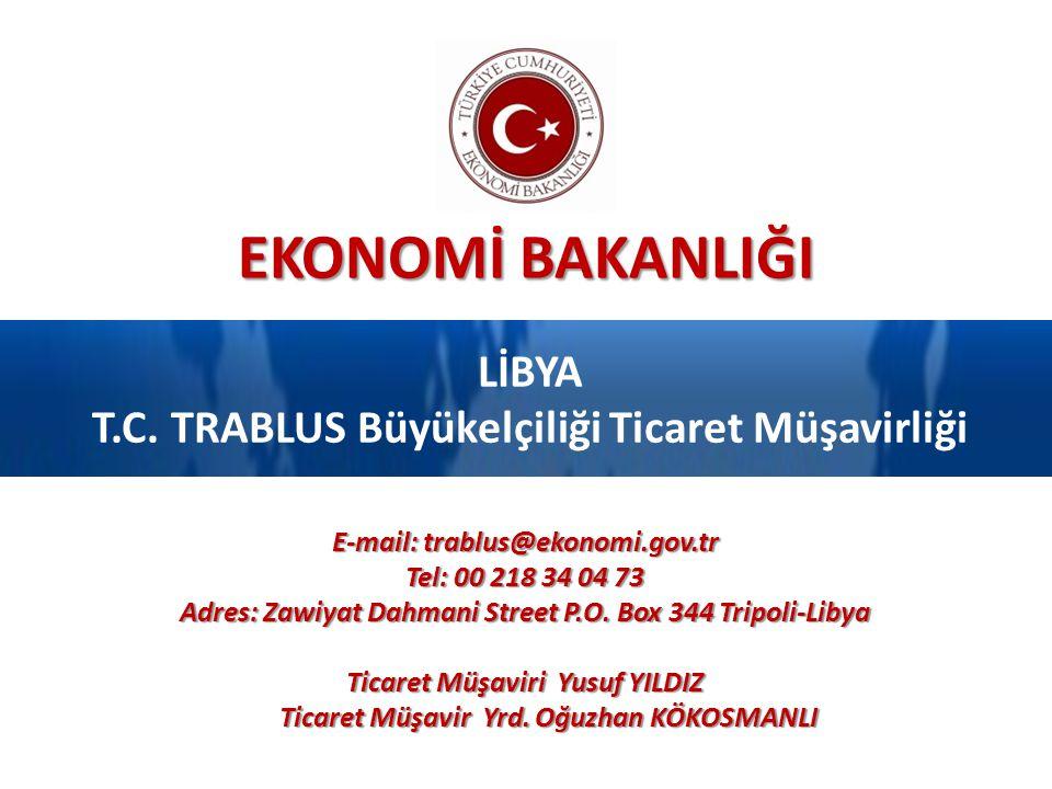 LİBYA T.C. TRABLUS Büyükelçiliği Ticaret Müşavirliği