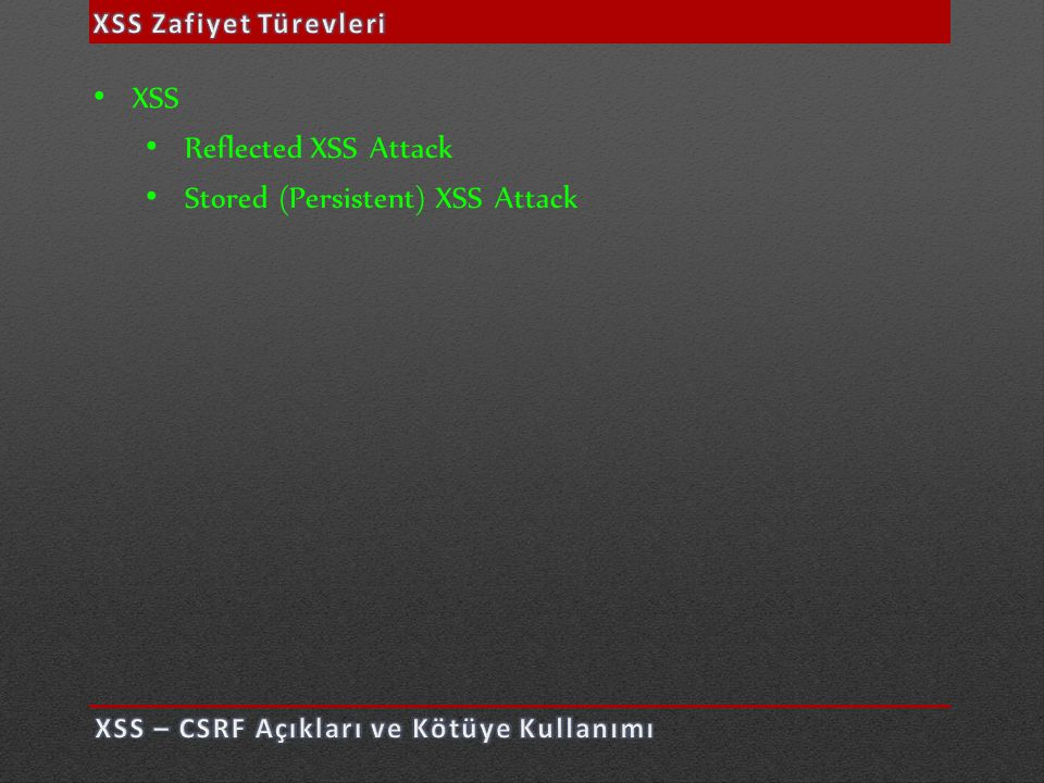 Stored (Persistent) XSS Attack