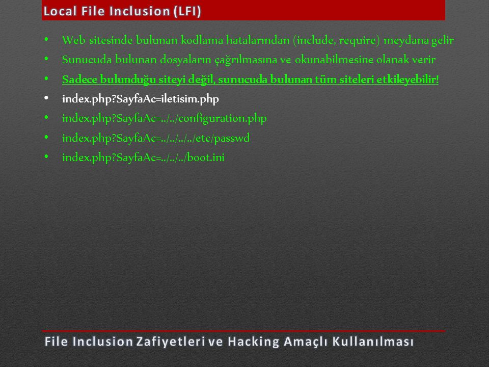 Local File Inclusion (LFI)